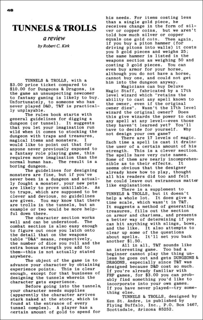 """Space Gamer"" #12 z1977 r."